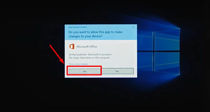 Instructions to install Office 2019 Home Student step 4.3