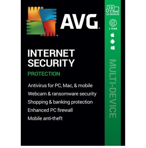 AVG Internet Security 2021 10 Devices 1 Year Global