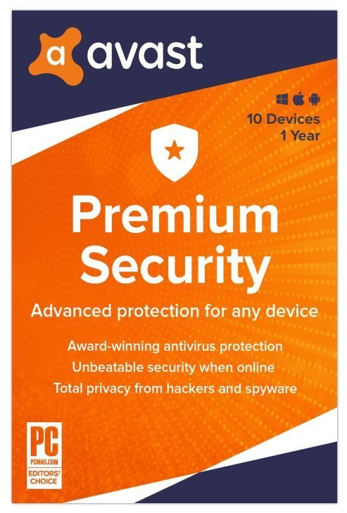 Avast Premium Security 2021 10 Devices 1 Year Global