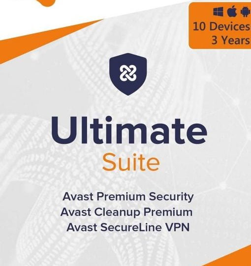 Avast Ultimate Suite 2021 3 Years 10 Devices Global